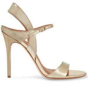 H by Halston New 8.5 gold strappy heels pumps